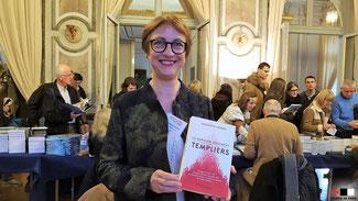 Simonetta Cerrini au salon Histoire de lire à Versailles, le 24.11.2018.