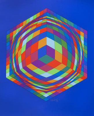 Bi-Ga - Screenprint of Victor VASARELY