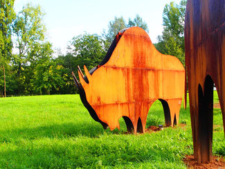 Mammut-Skulpturen im Stadtpark