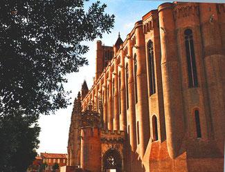 Seitenansicht der Kathedrale Saint-Cécile