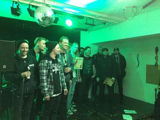 Siegerehrung 2018 - Disintegration war die Siegerband - Foto © Spunk Gelsenkirchen