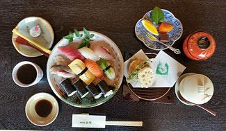 揚げ物付きコース料理(並寿司)