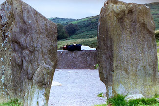 """Just Resting"" on the recumbent stone at Drombeg Stone Circle, County Cork, Ireland."