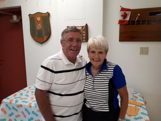 Photo of tournament winners Neil Stewart and MaryLou Demers