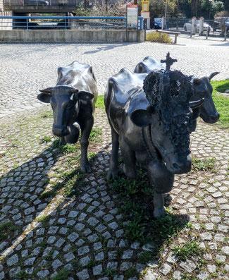 Bild: Alpzug am Landwehrplatz in Immenstadt