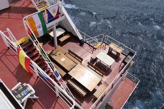 Bild: Blick auf unser Schiff