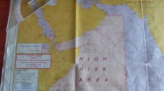 Bild: Seekarte vom Suezkanal