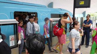 Bild: Mit dem Sentas-Express nach Sentosa-Island, der Vergnügungsinsel