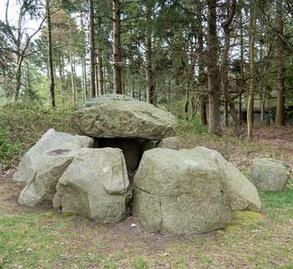 Bild: Das Großsteingrab in Missunde in der Nähe der Schleifähre in Schleswig Holstein