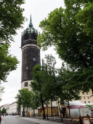 Bild: Turm der Schlosskirche in der Lutherstadt Wittenberg