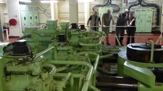 Bild: Die Rudermaschine des Containerschiffs