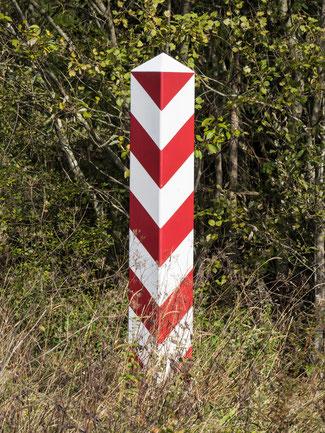 Bild: Polnischer Grenzstein