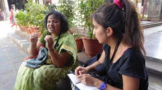 Bild: Reiseleiterin des Stadtrundgangs durch Chennai
