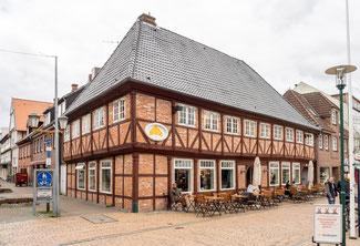 Bild: Fachwerkhaus in Rendsburg, das Ende des 17. Jahrhunderts gebaut wurde.