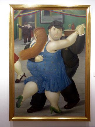 Bild: Tanzendes Paar des Künstlers Fernando Botero aus Kolumbien