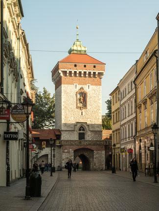 Bild: Die Geschäftsstraße Floriańska in Krakau