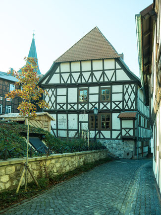 Bild: Schiefes Haus in Wernigerode im Harz