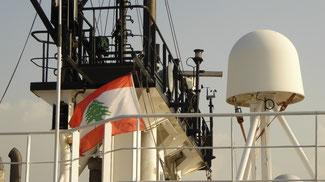 """Bild: Die Schiffsflagge: """"Zedern des Libanon"""""""