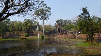 Bild: Überreste der Millionenstadt Angkor Thom