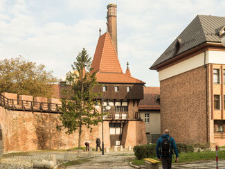 Bild: Wehrturm und Stadtmauer der Stadt Oppeln