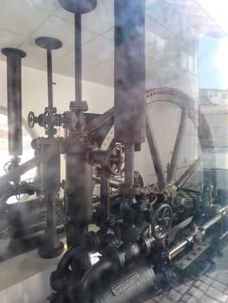 Bild: Eismaschine in Immenstadt, ein technisches Denkmal der Kaiserbrauerei