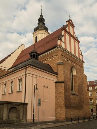 Bild: Das Franziskanerkloster in Oppeln in Polen