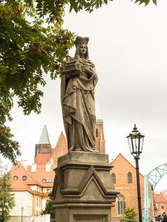 Bild: Die Statue Heilige St. Hedwig in Breslau