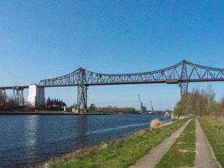 Bild: Die Eisenbahnhochbrücke in Rendsburg