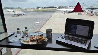 Bild: American-Spotter-Breakfast auf dem Changi-Airport in Singapur