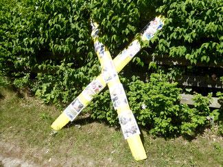 Protestzeichen gegen das Atommüllager Gorleben im Wendland