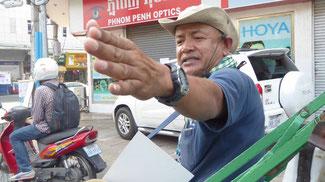 Bild: Unser Rikschafahrer in Phnom Penh