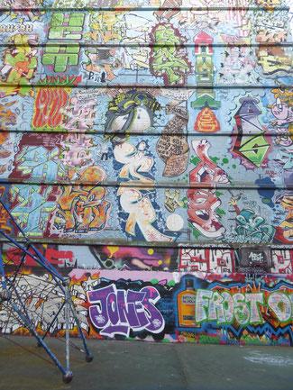 Bild: Die Wall of Fame im Schanzenpark von Hamburg
