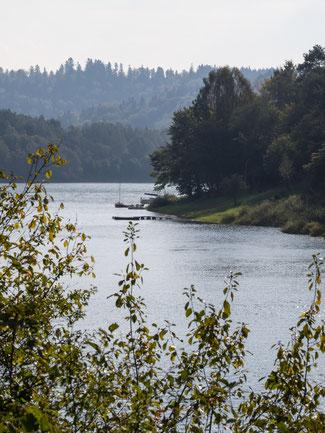 Bild: Der Stausee Solina in Polen
