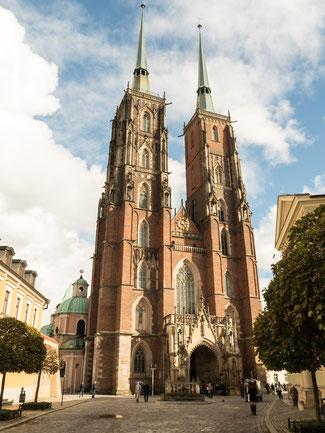 Bild: Die Kathedrale in Breslau von außen