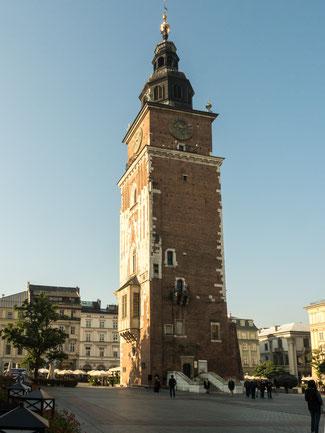 Bild: Der Rathausturm in Krakau
