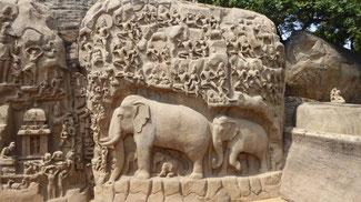 Bild: Mahabalipuram, ein Baudenkmal das dem UNESCO-Weltkulturerbe angehört