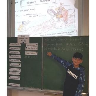 In der Deutschklasse haben die Schüler einiges über unseren Namenspatron gelernt.