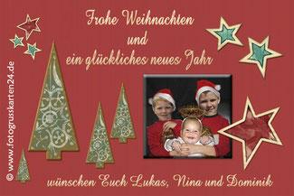 Weihnachtskarten, Weihnachtsgrusskarten mit Foto kaufen
