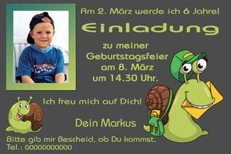 Einladungskarten Kindergeburtstag Tiere