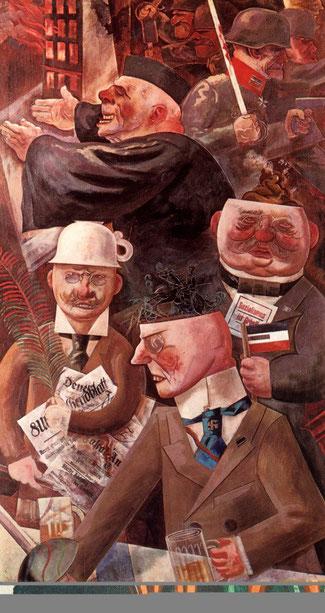 """George Grosz, """"I pilastri della società"""" (1926)"""