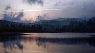 Tramonto al laghetto Coe