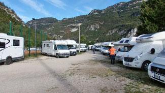 Parcheggio camper a Mori