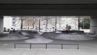 Skatepark at Heidelberger Platz in Wilmersdorf