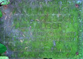 Grabplatte Anna Sauber