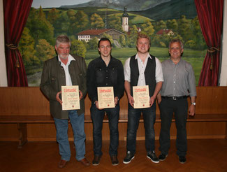 v.l. Horst Prebeck, Max Bernöcker, Bobby Bernöcker und 1. Vorsitzender Sepp Bernöcker.
