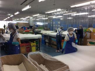 白いマットは、オリンピックの日本選手も愛用している特殊な寝具材とのこと