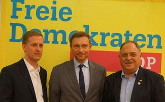 v.l.n.r. Carsten Renner, Christian Lindner, Günther Bomm