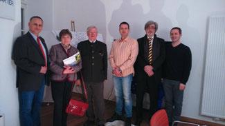 v.l.n.r.: Dr. Thorsten Neumann (Geschäftsführer, Rheinquartier GmbH), Ehepaar Gareis (FDP Vallendar), Sascha Weinbach (FDP Lahnstein), Sven Schillings und Florian Glock (beide FDP Koblenz)
