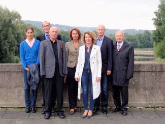 (v. l.): Christina Steinhausen (Ahrweiler), Alexander Buda (Bezirk Koblenz und Kreis Neuwied), Ulrich van Bebber (Ahrweiler), Nicole Westig (Rhein-Sieg), Martina Ihrig (Bad Honnef), Bernd Schlegel (Königswinter) sowie Peter Endler (Bad Honnef).