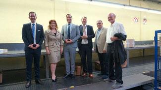(von Links: Felix Sobbe, Sandra Weeser, Hendrik Sandbrink, Marian Slusarek, Günther Bomm, Herbert Speyerer)